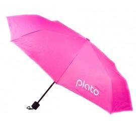 Розовые складные зонты с логотипом