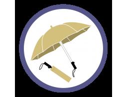 Бежевые складные зонты (4)