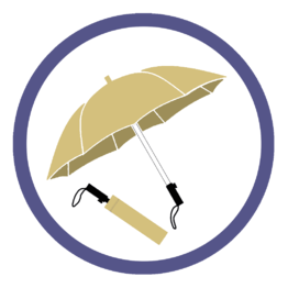 Бежевые складные зонты