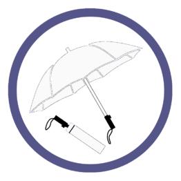 Белые складные зонты