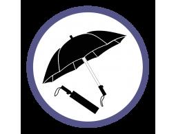 Черные складные зонты (101)