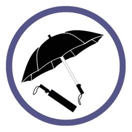 Мужские складные зонты