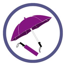Фиолетовые складные зонты