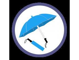 Голубые складные зонты (9)