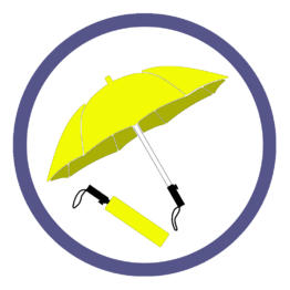 Желтые складные зонты