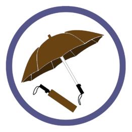 Коричневые складные зонты