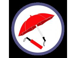 Красные складные зонты (33)