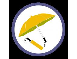 Оранжевые складные зонты (13)