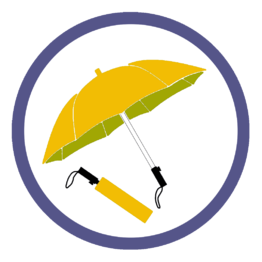 Оранжевые складные зонты