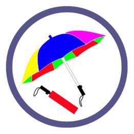 Складные зонты двух и более цветов
