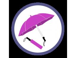 Розовые/фукси складные зонты (8)