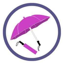 Розовые/фукси складные зонты