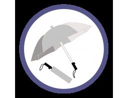 Серебряные складные зонты (12)