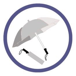 Серебряные складные зонты