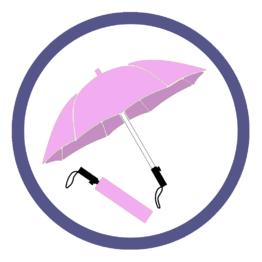Сиреневые складные зонты