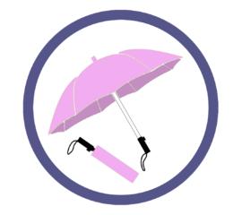 Сиреневые зонты-трости с логотипом Акция