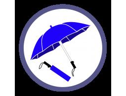 Синие складные зонты (Производство)