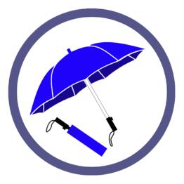 Синие складные зонты