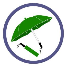 Зеленые складные зонты
