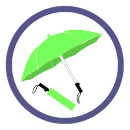 Складные зонты цвета Зеленое яблоко