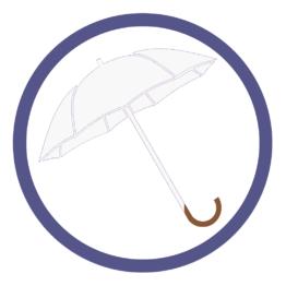 Белые зонты трости