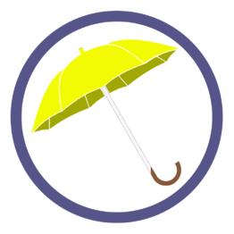 Желтые зонты трости