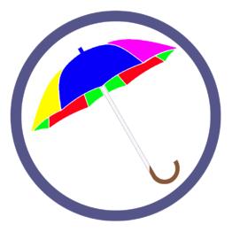 Зонты трости двух и более цветов