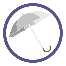 Серебряные зонты трости