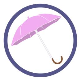 Сиреневые зонты трости
