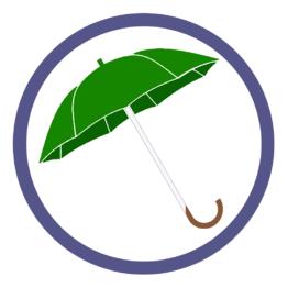 Зеленые зонты трости