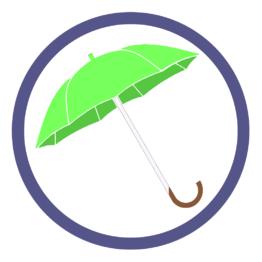 Зонты трости цвет Зеленое яблоко