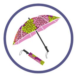 Женские складные зонты