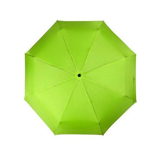 Зонт складной Columbus, механический, 3 сложения, с чехлом, зеленое яблоко