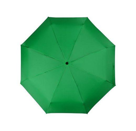 Зонт складной Columbus, механический, 3 сложения, с чехлом, зеленый