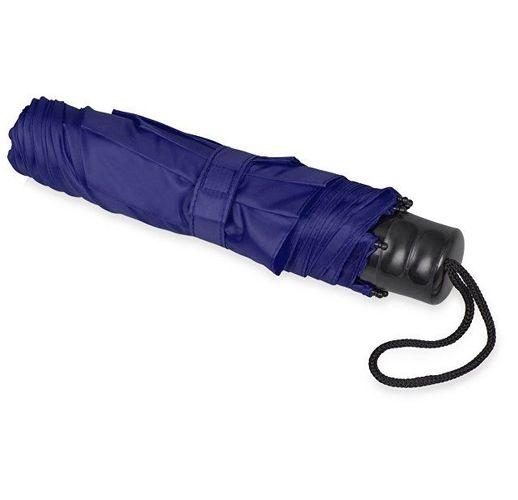 Зонт складной Columbus, механический, 3 сложения, с чехлом, темно-синий