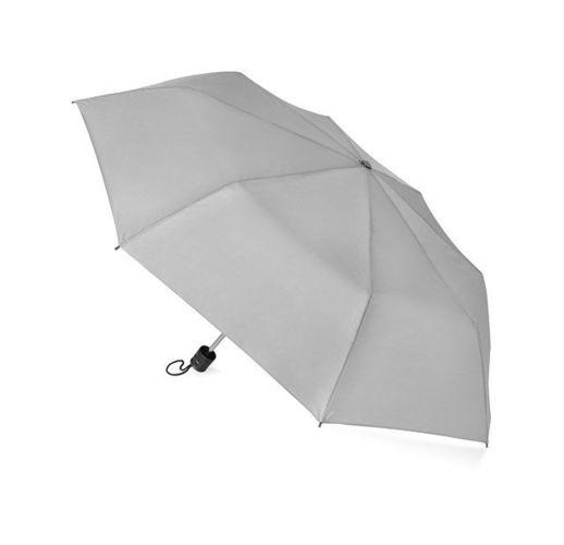 Зонт складной Columbus, механический, 3 сложения, с чехлом, серый