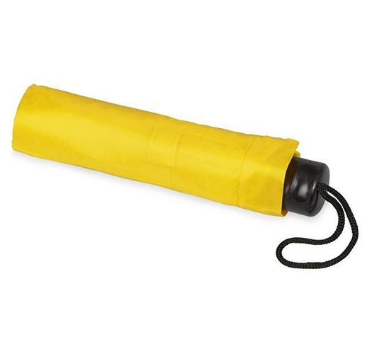 Зонт складной Columbus, механический, 3 сложения, с чехлом, желтый