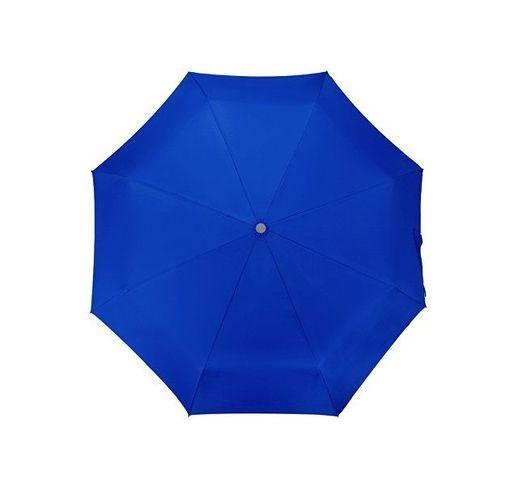 Зонт складной Tempe, механический, 3 сложения, с чехлом, синий