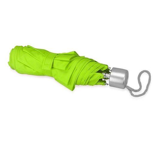 Зонт складной Tempe, механический, 3 сложения, с чехлом, зеленое яблоко