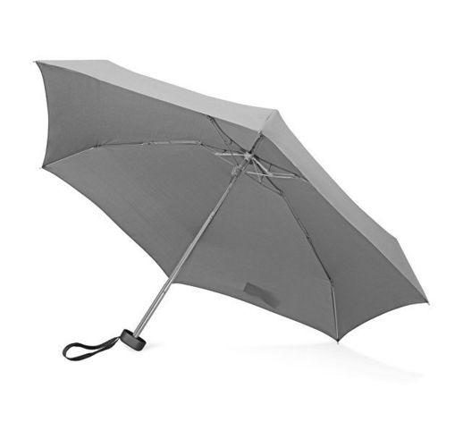Зонт складной Frisco, механический, 5 сложений, в футляре, серый