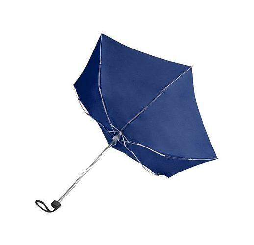 Зонт складной Frisco, механический, 5 сложений, в футляре, синий