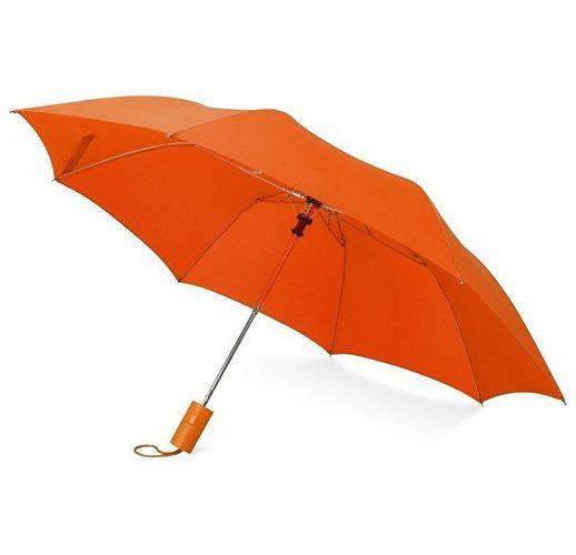 Зонт складной Tulsa, полуавтоматический, 2 сложения, с чехлом, оранжевый