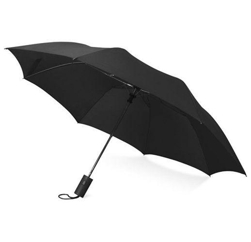Зонт складной Tulsa, полуавтоматический, 2 сложения, с чехлом, черный