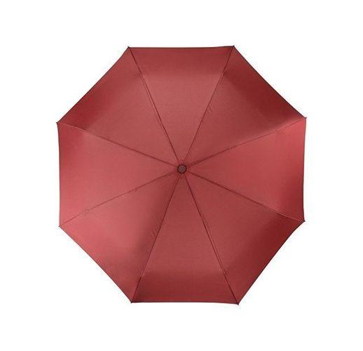 Зонт складной Irvine, полуавтоматический, 3 сложения, с чехлом, бордовый