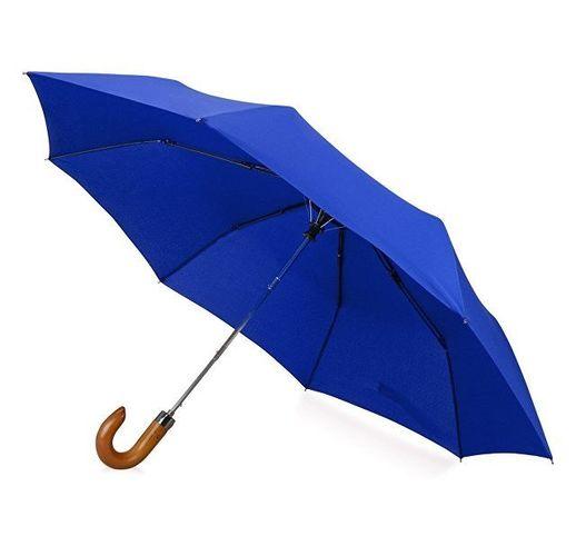 Зонт складной Cary, полуавтоматический, 3 сложения, с чехлом, темно-синий