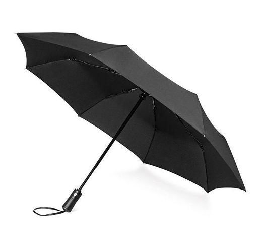 Зонт складной Ontario, автоматический, 3 сложения, с чехлом, черный