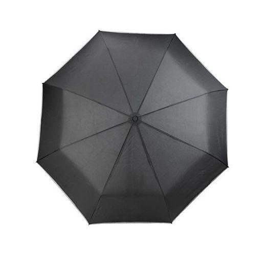 Автоматический зонт 27 со светодиодами, черный