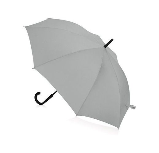 Зонт-трость Bergen, полуавтомат, серый