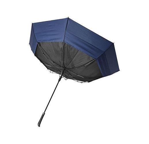 Выдвижной зонт 23-30 дюймов полуавтомат, черный/темно-синий