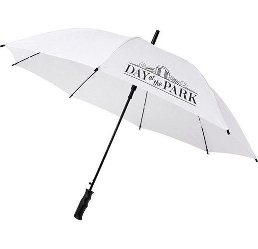 23-дюймовый ветрозащитный полуавтоматический зонт Bella, белый